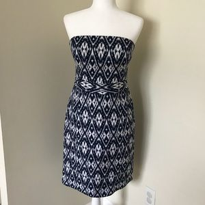 ⭐️ Banana Republic Ikat strapless dress 👗